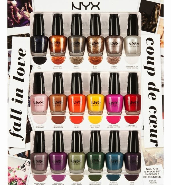 NYX Fall in Love Nail Art Collection