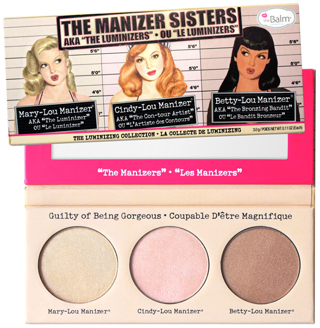 theBalm theManizer Sisters Luminizing Palette