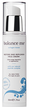 Крем для лица с коллагеном Balance Me Collagen Boost Restore & Replenish Face Cream