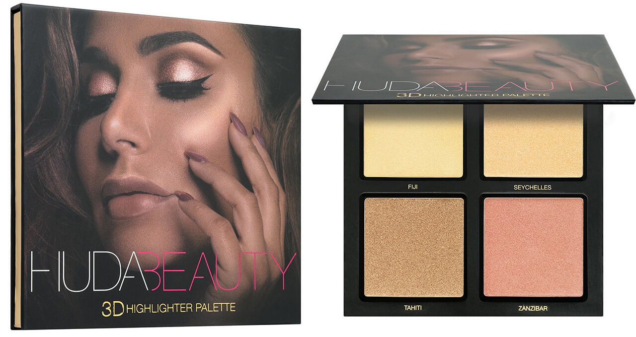 хайлайтер Huda Beauty 3D Highlight Palette Golden Sands