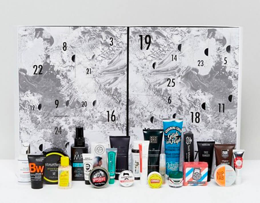 Мужской рождественский календарь Asos The Grooming Advent Calendar наполнение