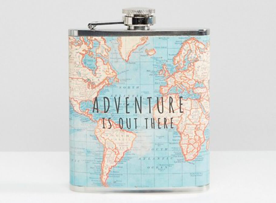 Фляга Sass & Belle Adventure is Out There Hip Flask