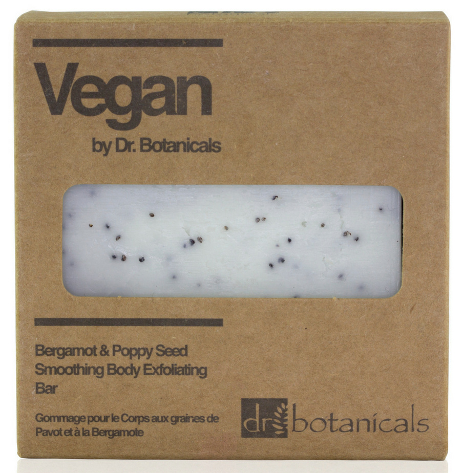 Отшелушивающее мыло Dr Botanicals Bergamot & Poppy Seed Smoothing Body Exfoliating Bar