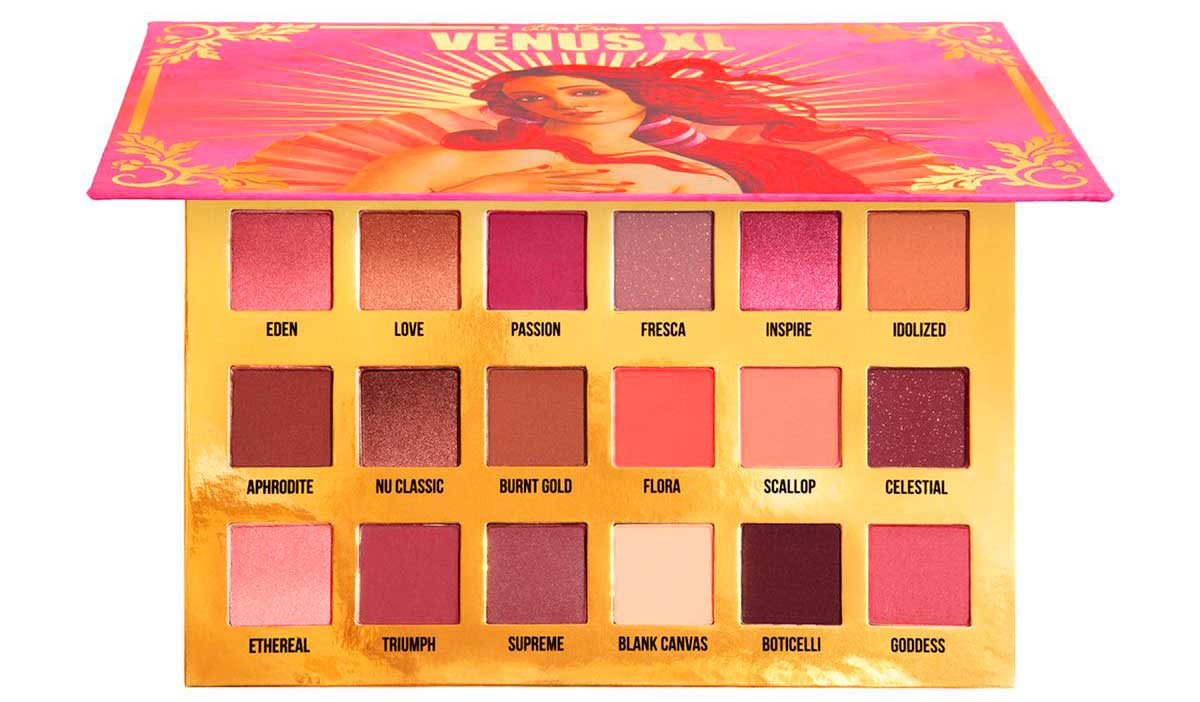 Палетка теней Lime Crime Venus XL