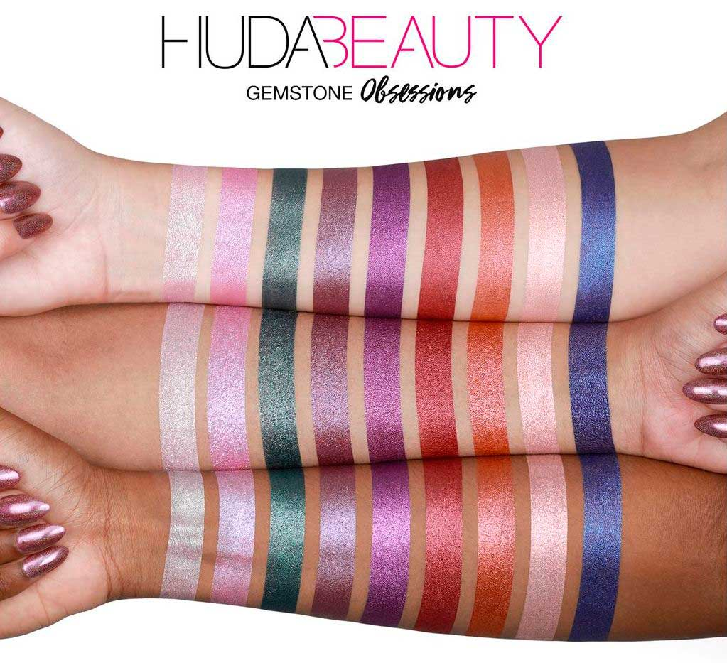 тени Huda Beauty Gemstone Obsessions Palette