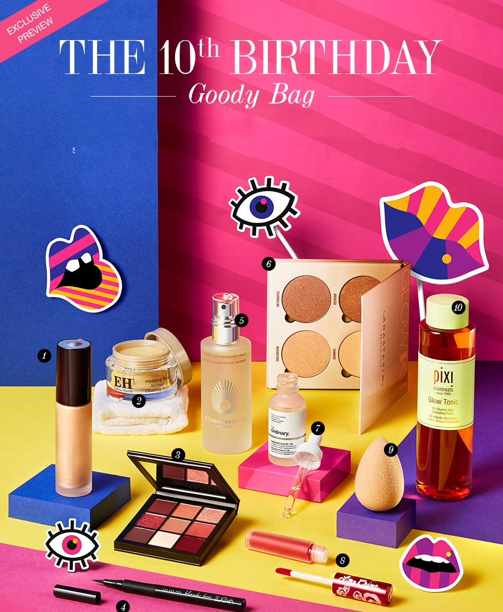 Cult Beauty The 10th Birthday Goody Bag лето 2018 наполнение