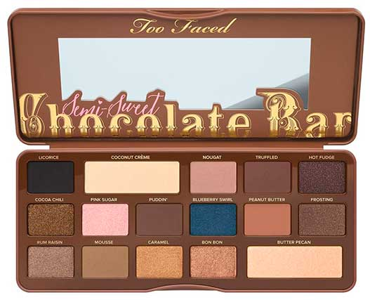 Палетка теней Too Faced Semi-Sweet Chocolate Bar Eye Shadow Collection