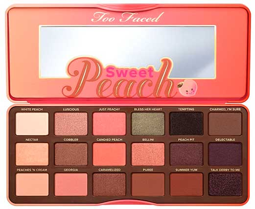 Палетка теней Too Faced Sweet Peach Eye Shadow Collection