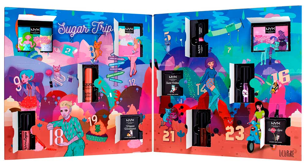 Адвент-календарь NYX Professional Makeup Sugar Trip 24 Days Of Beauty Advent Calendar