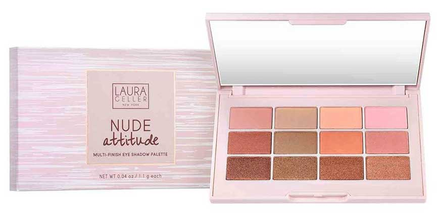 Палетка теней Laura Geller Nude Attitude Multi-Finish Eye Shadow Palette