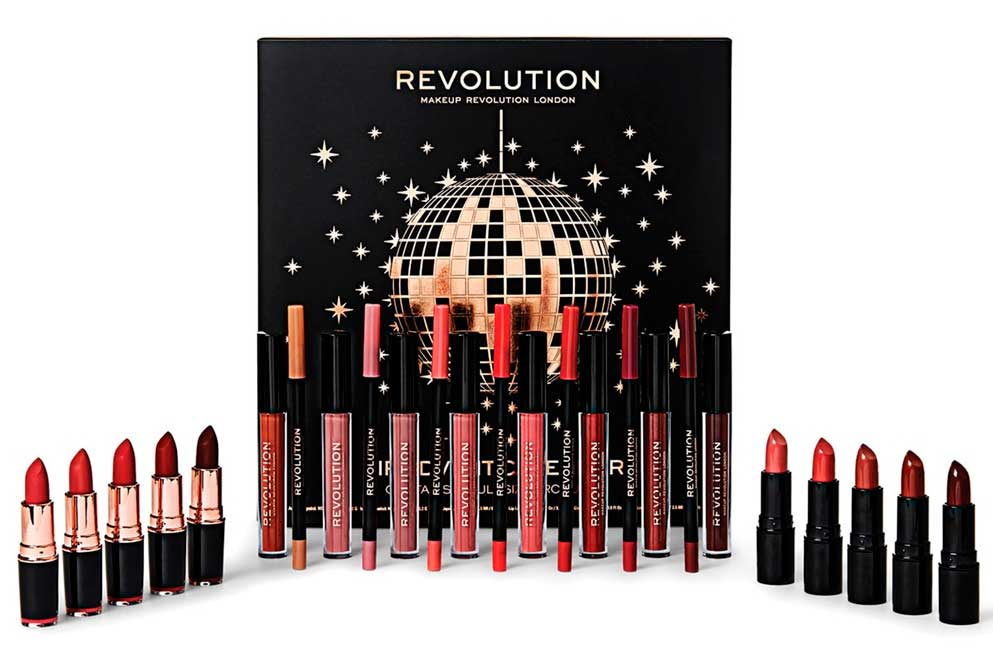 Revolution Lip Advent Calendar наполнение