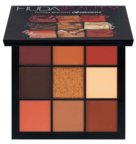 Палетка теней Huda Beauty Warm Brown Obsessions Palette