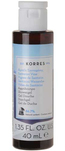 Гель для душа Korres Santorini Vine Shower Gel.