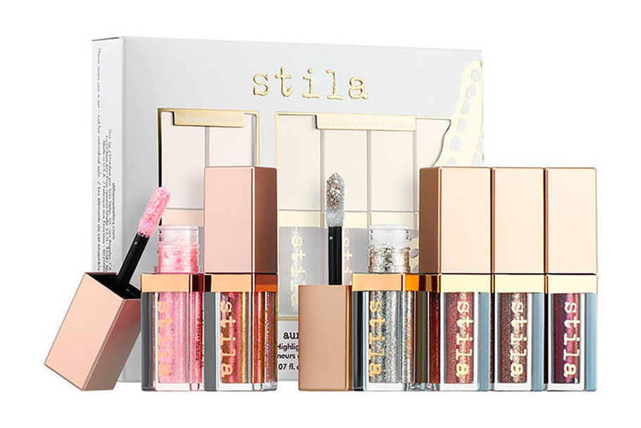 Набор теней Stila Aura Alight Glitter & Glow Highlighter & Liquid Eye Shadow Set