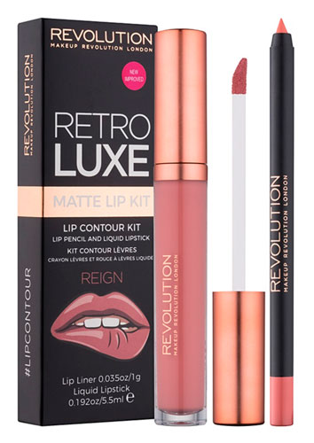 Набор для губ Makeup Revolution Retro Luxe Matte Lip Contour Kit в оттенке Reign