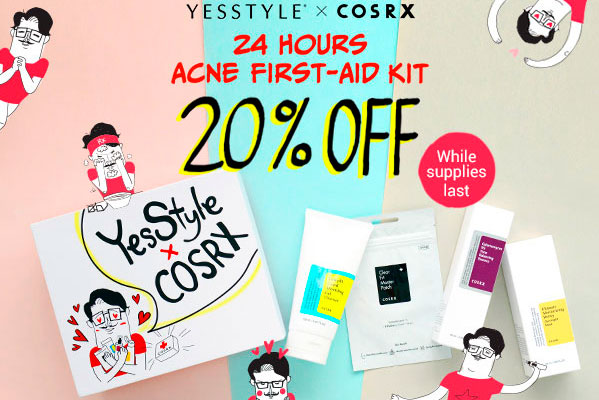 бокс YesStyle x CosRx 24 Hours Acne First-Aid Kit Box Version