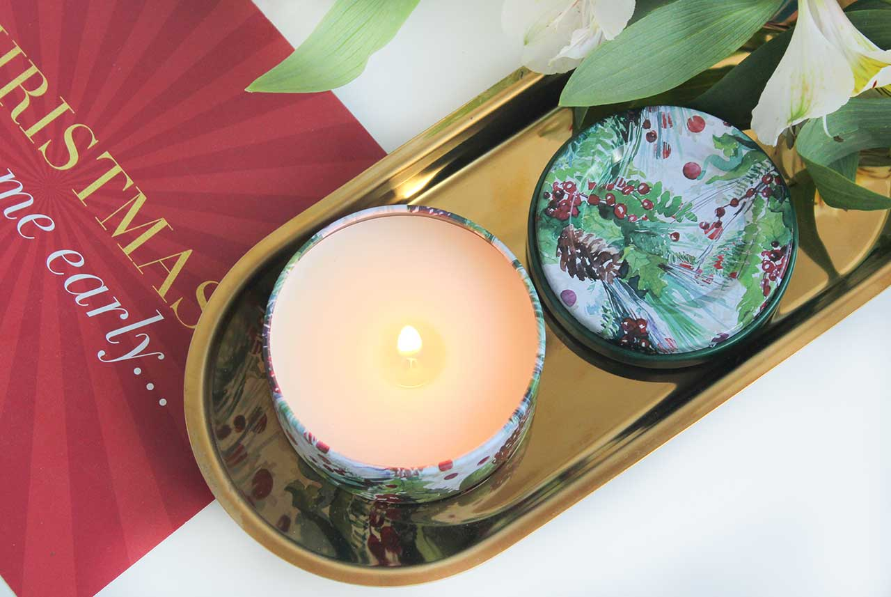 Свеча European Soaps Via Mercato Natale Candle - Frosted Forest