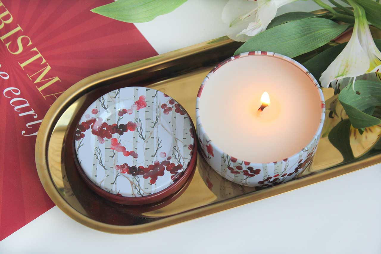 Свеча European Soaps Via Mercato Natale Candle - Winter Berry