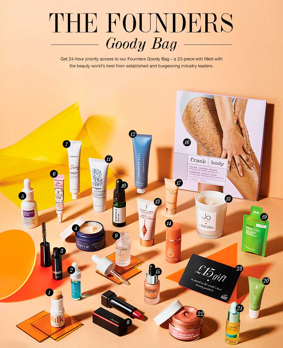 Cult Beauty Founders Goody Bag Spring 2019 наполнение