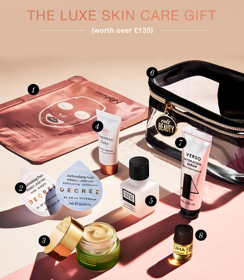 Cult Beauty The Luxe Skin Care Gift Goody Bag December 2019
