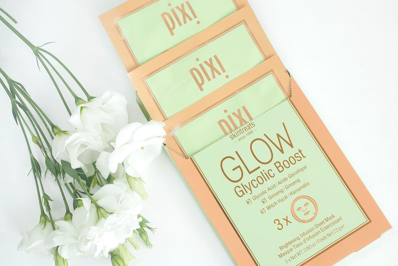 маска Pixi GLOW Glycolic Boost Brightening Infusion Sheet Mask