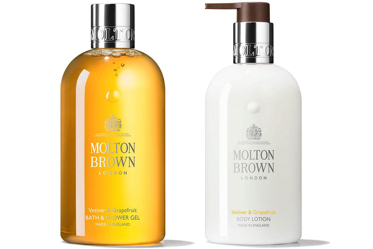 Molton Brown Vetiver & Grapefruit Body Wash and Body Lotion