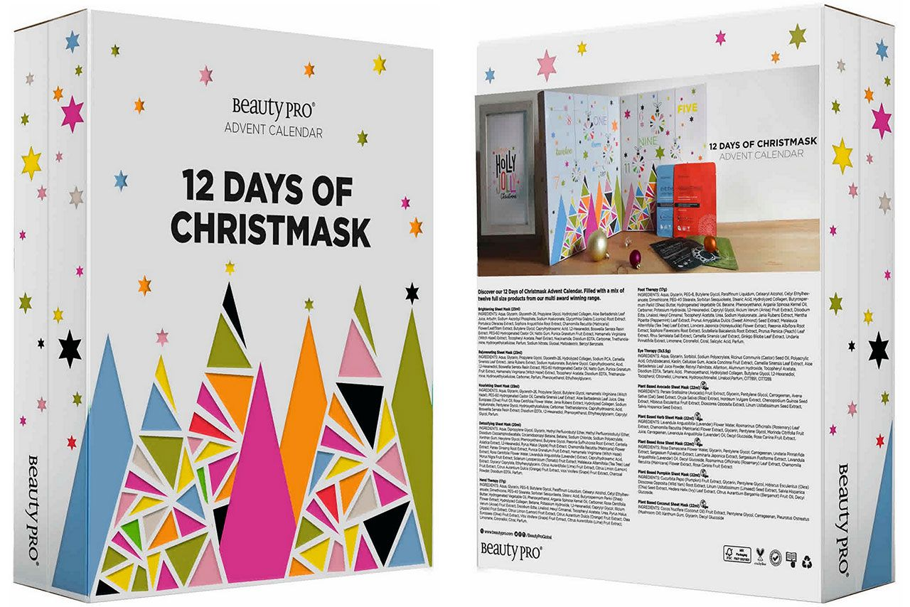 календарь BeautyPro 12 DAYS OF CHRISTMASK Advent Calendar 2020