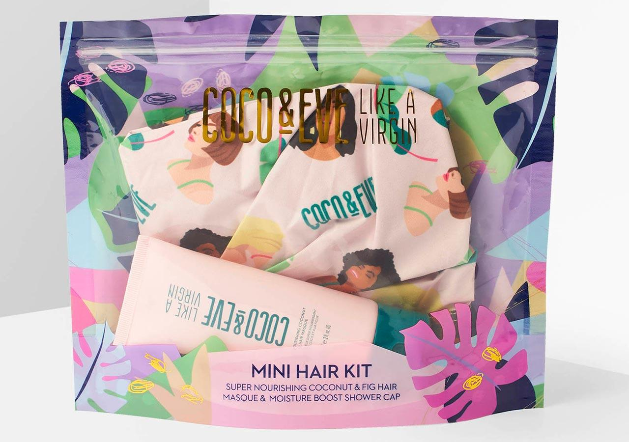 Coco & Eve Mini Hair Mask and Shower Cap Gift Set