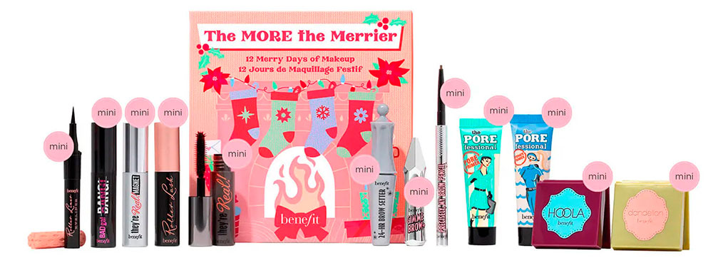 benefit The More The Merrier 12 Day Beauty Advent Calendar 2021